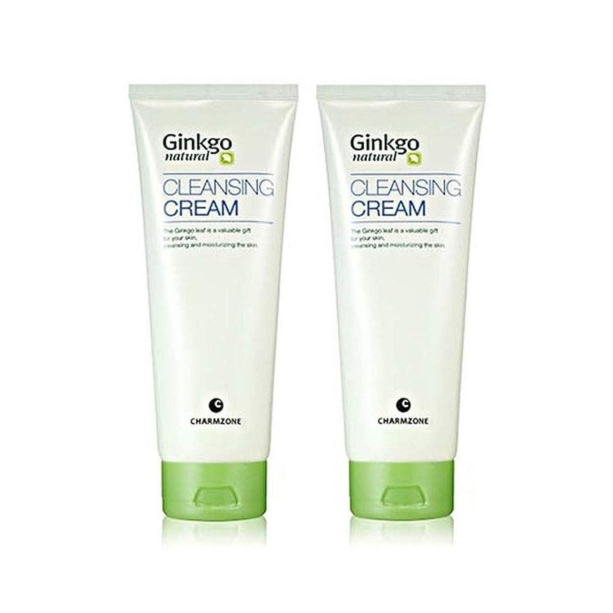 農場エミュレーションケーブルカーチャムジョンジンコナチュラルクレンジングクリーム200g x 2本セットメーキャップクレンジング、Charmzone Ginkgo Natural Cleansing Cream 200g x 2ea Set [並行輸入品]