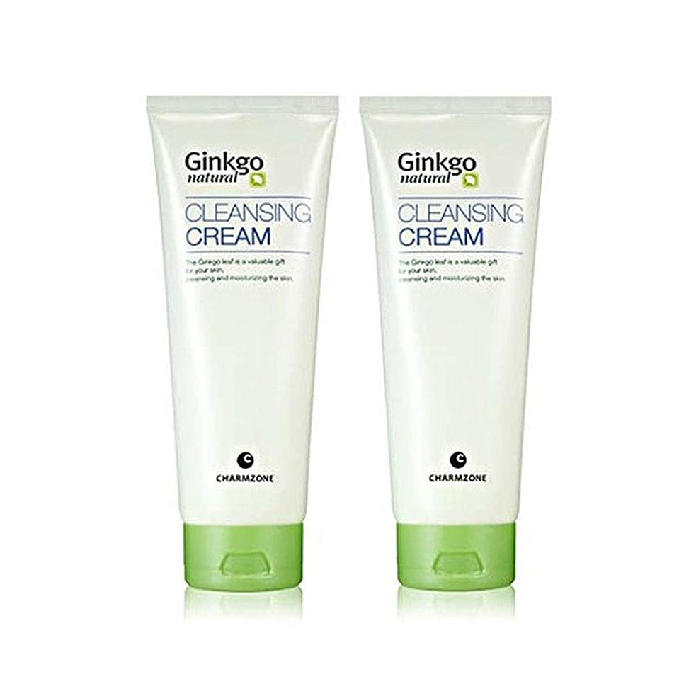 誤アクロバットバンガローチャムジョンジンコナチュラルクレンジングクリーム200g x 2本セットメーキャップクレンジング、Charmzone Ginkgo Natural Cleansing Cream 200g x 2ea Set [並行輸入品]