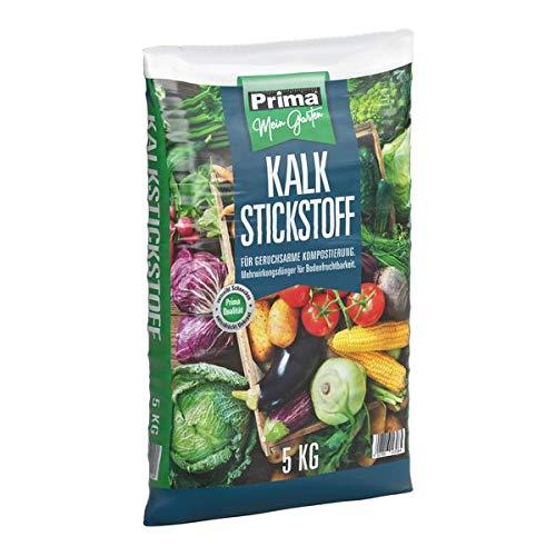 Prima Kalkstickstoff 5 kg - für geruchsarme Kompostierung. Mehrwirkungsdünger für Bodendruchtbarkeit.