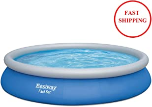 """kbxstart Bestway 57313 Fast Set Inflatable Swimming Pools Above Ground, 15ft x 33in   Pool Set for Adults and Kids 15' x 33"""""""
