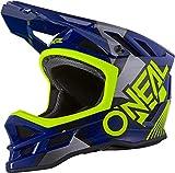 Oneal Blade Polyacrylite Helmet Delta Blue/Neon Yellow M (57/58 cm) Casco Moto MX-Motocross, Adultos Unisex