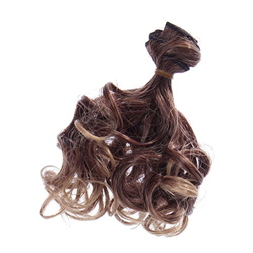 Parrucca Rinka Hair capelli ricci DIY (fai-da-te) per bambola, 15 x 100 cm, per BJD, SD, Barbie Dolls – #1, XL