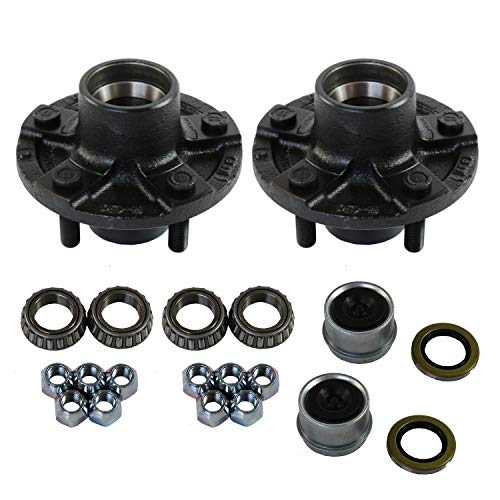 JDMSPEED New 2 Trailer Idler Hub Kits 5 on 4.5' Replacement for 2000 lbs Axle 1-1/16' Bearings