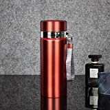 Jusemao Hervidor de agua portátil de acero inoxidable para la oficina de negocios, botella termo de 500 ml 12/rojo caliente_500 ml
