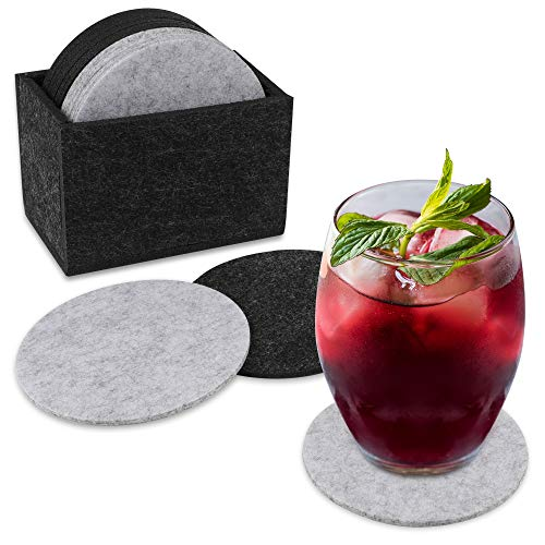 Jetika Untersetzer Set, Filzuntersetzer, Getränkeuntersetzer Heat-Resistant Wiederverwendbar saugfähig 15 Stück für Tisch Tasse Kaffee