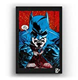 Angry Batman DC Comics - Pintura Enmarcado Original, Imagen Pop-Art, Impresión Póster, Impresion en ...