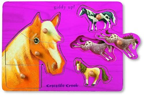 Horse Themed boisen Puzzle by Crocodile Creek
