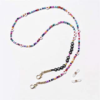 Face Mask Holder Eyeglass Beaded Chains Necklace for Women Men Kids Colourful Beads Lucky Necklace Holds Your Face Mask Around Your Neck 29