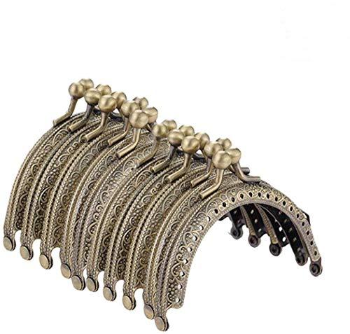 VADOO Set di 10 Pezzi Chiusure di Borsa/Portafoglio, Chiusura Antica con Diamante Decorativo Clic Clac per DIY 8.5cm x 5cm