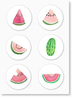 Watercolor Watermelon Stickers, Round Envelope Seals, Party Favor Labels, Cupcake Toppers, Summer Birthday Party Decoratio...