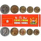 5 Monedas Diferentes - Moneda Extranjera Antigua Y Coleccionable De Hong Kong para Coleccionar Libro...