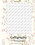 Calligraphy Writing Paper 200 sheet pad, Modern Calligraphy Slant Angle Lined Paper, Beginner Practice Workbook for Creating Beautiful Lettered Art - Grass Background