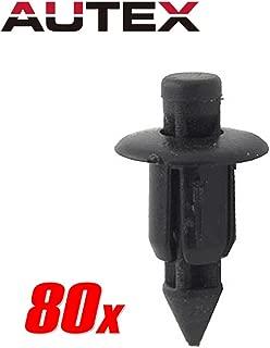 PartsSquare 80pcs Fender Liner Fastener Rivet Push Clips Retainer Fastener Replacement for Honda ATV