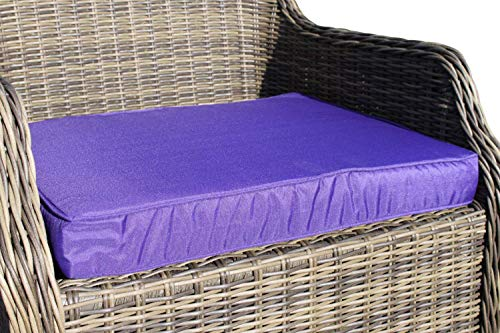 Garden Market Place Coussin pour Chaise de Jardin Violet 95 x 45 x 35 cm