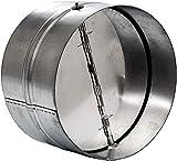 Extractor de aire de 160 mm para canal recto o flexible. Ventilador extractor de baño, extractor de campana de cocina y otros sistemas de válvula antirretorno para secadoras. Amortiguador de acero.