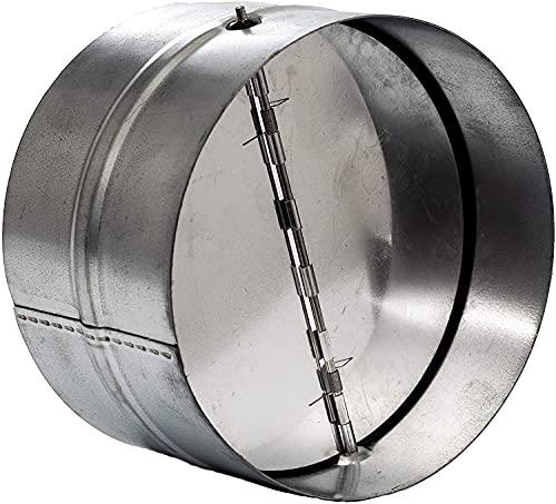 Extractor de aire de 160 mm para canal recto o flexible. Ventilador extractor de baño, extractor de campana de cocina y otros sistemas de válvula antirretorno para secadoras. Amortiguador de a