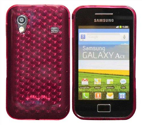 Luxburg® Diamond Design Schutzhülle für Samsung Galaxy Ace GT-S5830 in Farbe Rosenquartz Pink/Rosa, Hülle Case aus TPU Silikon