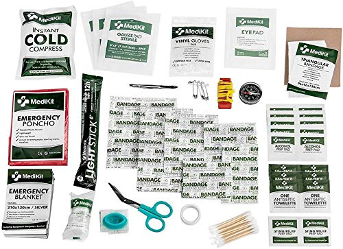 MediKit Deluxe First Aid Kit (115 Items) The Most Essential First Aid Supplies for Home, Sports, Travel, Camping, Office and The Workplace