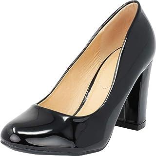 Cambridge Select Women's Classic Chunky Block Heel Round Toe Pump
