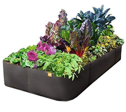 """Victory 8 Raised Garden Bed 3 ft X 6 ft 'Just Right Size' AeroFlow Proprietary Fabric Pot 'GROW YOUR OWN"""""""