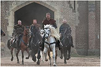Robin Hood Kevin Durand as Little John Scott Grimes as Will Russell Crowe as Robin and Alan Doyle as Allan 8 x 10 Inch Photo