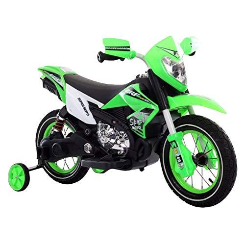 YADEOU - Bicicleta eléctrica de 6 V con pilas para niños de 3 a 6 años, mini moto con ruedas de entrenamiento, faros delanteros y MP3, el mejor regalo para niños en el día del niño