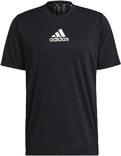 adidas mens D2M 3 STRIPES T-SHIRT T-Shirt