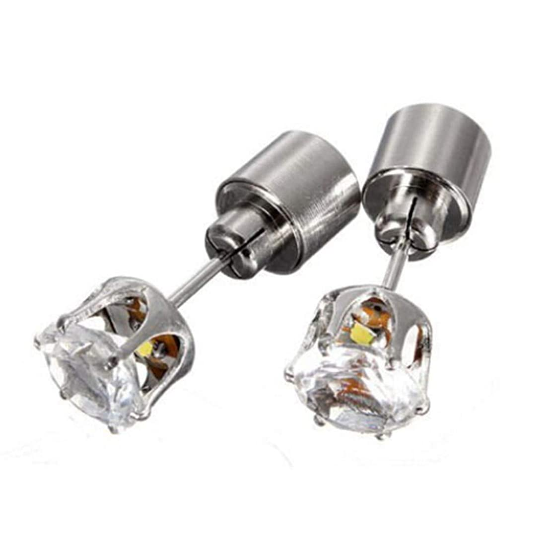 アリスけん引伝染性のOSMNICE LEDイヤリングスタッド輝く点滅ステンレス鋼イヤリングスタッド ファッションスタッドピアス敏感な耳のための低刺激性