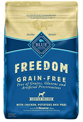 Blue Buffalo Freedom Grain Free Natural Senior Dry Dog Food Chicken 24-lb