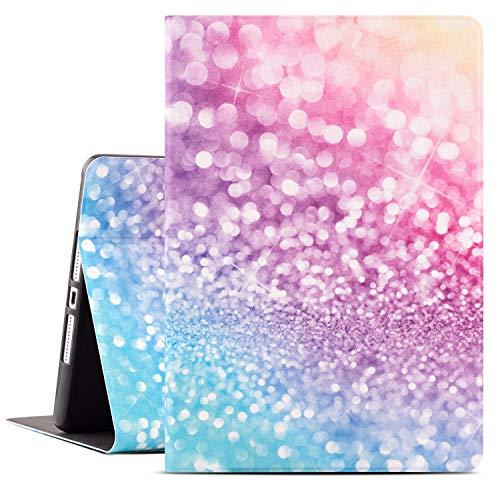 Drodalala iPad 8th Generation Protective Cover for Women, 10.2 inch iPad Case for 7th Generation iPad, Premium Leather Soft TPU Adjustable Viewing Stand iPad 10.2 Case-Auto Wake/Sleep(Pink Glitter)