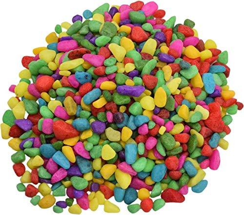Royal Sapphire gekleurde kiezelstenen grind | kleurrijke stenen voor vaas vulstoffen tafel Scatter Party Favor bruiloft decoratie Aquarium kiezels