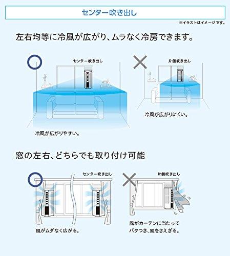 トヨトミ窓用ルームエアコン人感センサー付1.8kWモデルホワイトTIW-AS180K(W)
