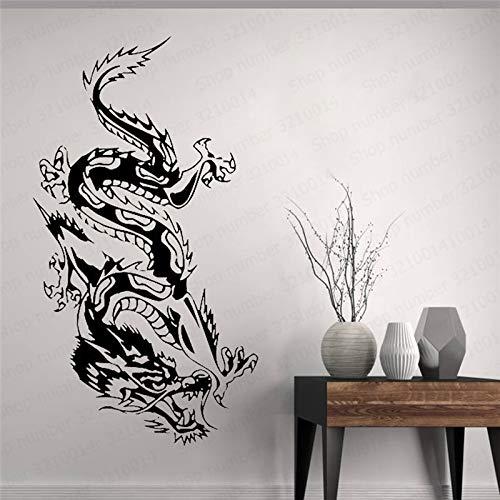 hetingyue stickers voor notitieboek, van vinyl, Chinese draak, woonkamer, slaapkamer, wandlamp, mythische dieren