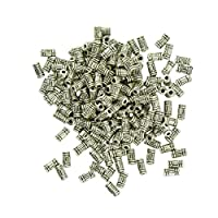 shama 200ピース/個破傷風銀合金金属管スペーサービーズジュエリーの調査結果