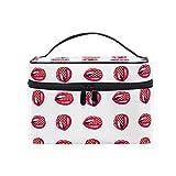 Organizador Caso Gran mango de viaje de almacenamiento de tocador y maquillaje bolsa de maquillaje, Labios rojos sexy...