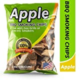 Smoking Wood Chips Apple Flavored, 2Lbs Wood Chips for Smokers & Grills, Bake, Roast, Braise and BBQ | USA Made