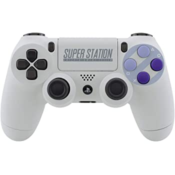 eXtremeRate Classics SNES Style Soft Touch Front Back Shell Touchpad for PlayStaton 4 Controller, Replacement Housing Shell with Face Buttons for PS4 Slim PS4 Pro CUH-ZCT2 Controller