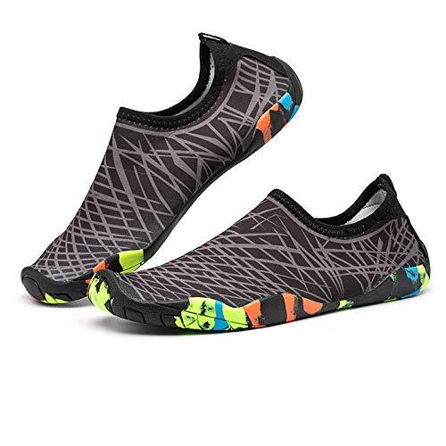 B/H Zapatos de Agua con Tela Transpirable,Zapatos Marinos Ideales,Zapatos de Snorkel de Secado rápido, Zapatos de Playa para vadeo-N_41 / 26.0CM