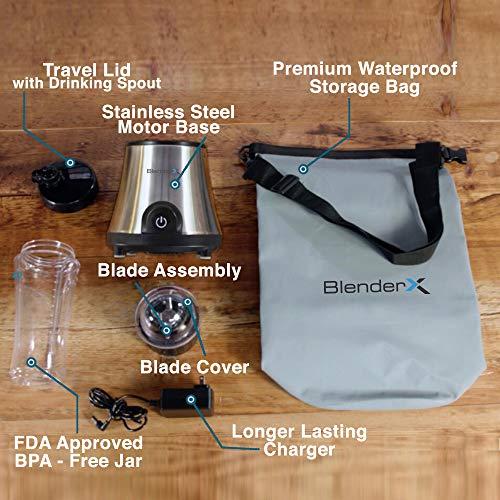 BlenderX CORDLESS HOME, PORTABLE & TRAVEL Blender