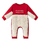 Baby Mopp Strampler Outfit Jumpsuit Kleinkind Kriechen Overall Junge Mädchen Polituren Fußböden Reinigung Mop Schlafstrampler 0-24 Monate