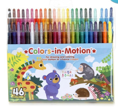 Twistables Color In Motion Crayons 46/pkg made in Korea
