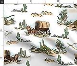 Spoonflower Stoff – Cowboy prähistorischer