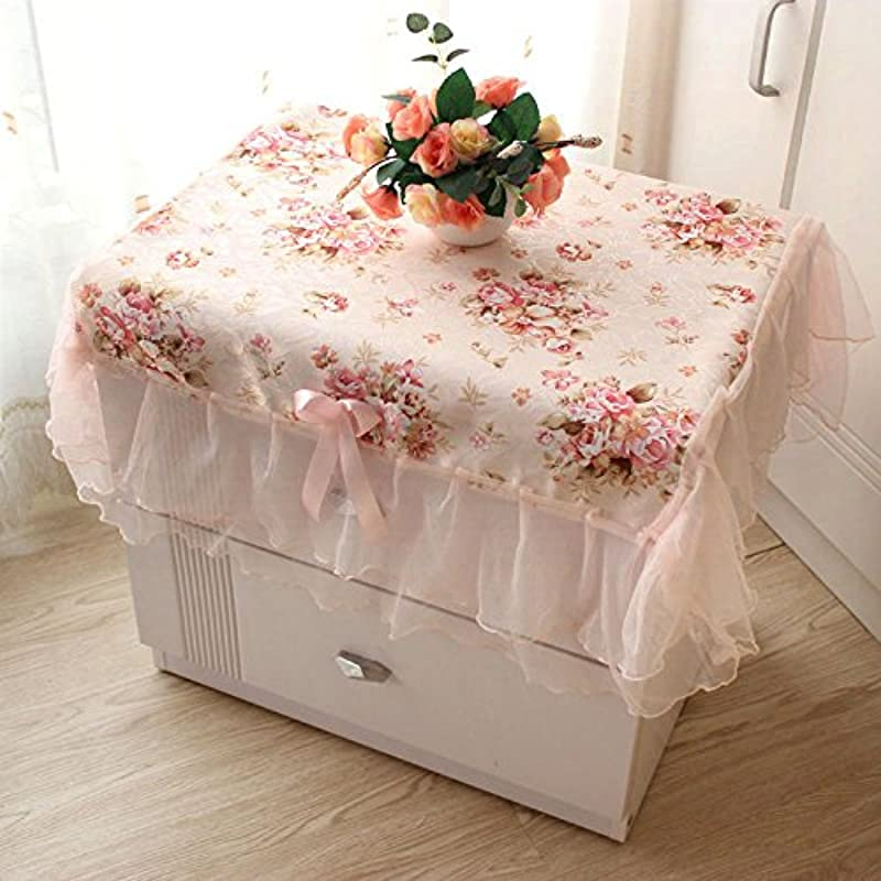 Miss Xin Tablecloths Beautiful Romantic Pastoral Lace Ruffle Girls Bedside Table Cloth Size 2931 Inch