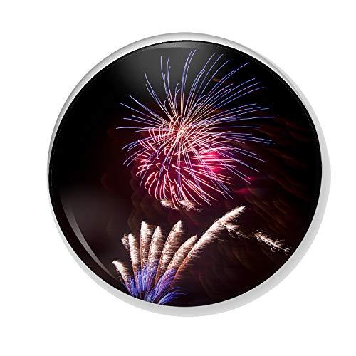 Gifts & Gadgets Co. Feuerwerk Display 1 Button Anstecker 25mm rund Reverspin