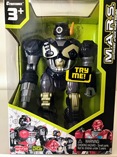 M.A.R.S. Motorized Walking Cyber Bot Attack Robot Dark Blue w/Bronze/gold - Polar Captain by Cybotronix