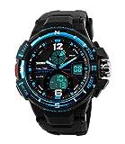 Reloj analógico y digital con diseño deportivo para hombre, impermeable con alarma y esfera...