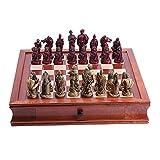 Zunruishop Ajedrez Resina de ajedrez Ajedrez Manualidades Adornos Decorativos (con Piezas de ajedrez Ranura de Almacenamiento) - Principiante Juego de ajedrez for niños y Adultos ( Color : B )