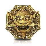 YIXIN2013SHOP Estatua de Buda Bite Bagua Espejo Feng Shui Cobre Espada del león chisme Espejo Animal Cabeza de Hogar Hermoso Colgante Adornos Feng Shui Decoración Escultura Decoración