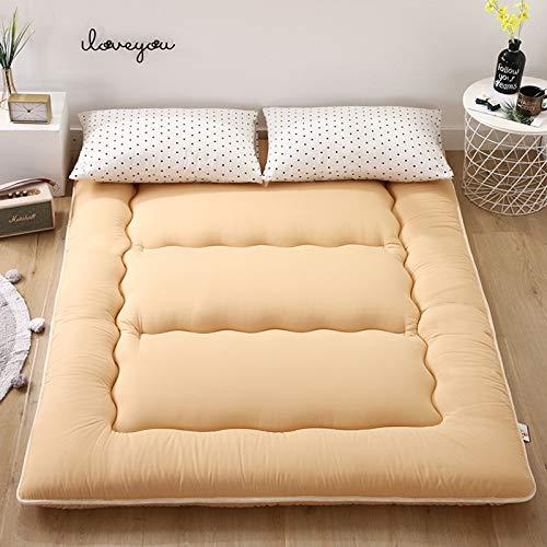 MYYU Sleeping Pad Tatami Tappetino,Giapponese Pieghevole Futon Materasso A Pavimento,Studente Dormitorio Portatile Materasso,Beige,1.8X2.0M