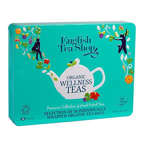 "English Tea Shop - Tee-Geschenkbox aus Metall ""Wellness Selection"" mit 36 BIO-Tees"